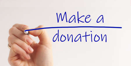 Make a Donation Charity Donate Contribute Give Concept.