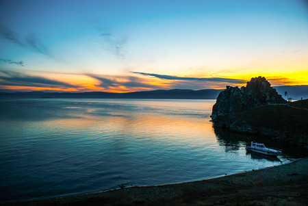 baikal: View on the lake Baikal in Russia Stock Photo