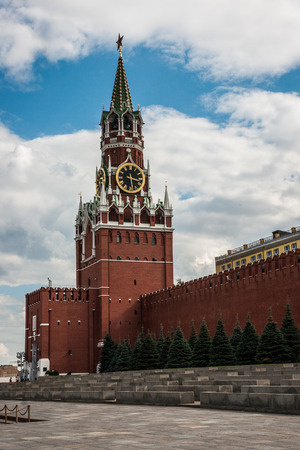 spasskaya: Picture of the Spasskaya tower in Moscow, Russia