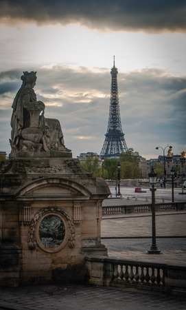 concorde: Picture of the Eiffel tower from the Place de la Concorde in Paris, France