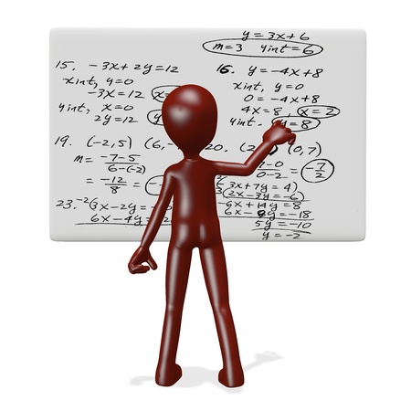 People to solve complex problems. 3d render Stock Photo