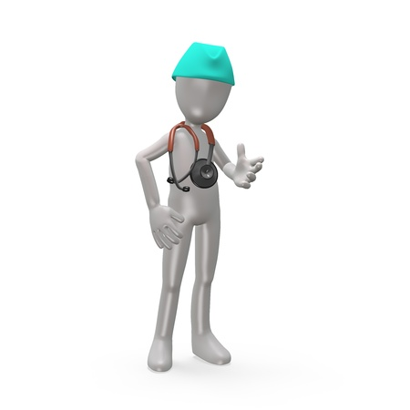 Doctor with a stethoscope. 3d render