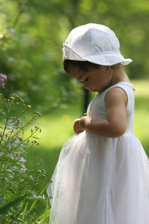 Girl in white dress Stock Photo - 1431629