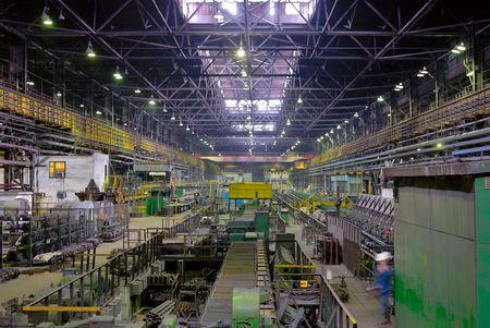 usine de fabrication, laminoir en perspective