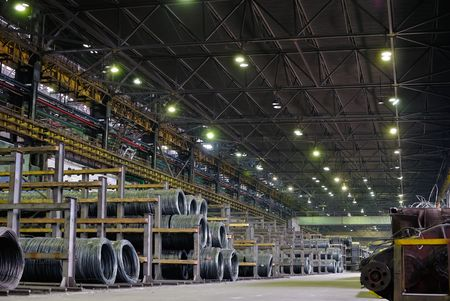 industrial metallurgical storehouse, warehouse Stock Photo - 6659854