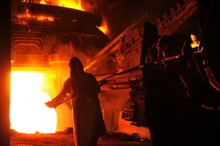 industrial metallurgist iron sample metallurgical manufacture shop