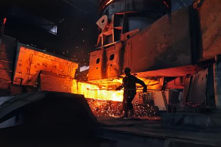 heavy industry metallurgical metallurgist at work