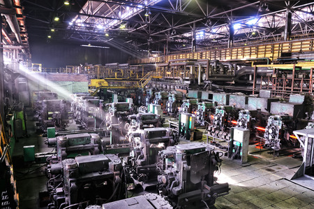 Industrial metallurgical plant fabrication rolling mill