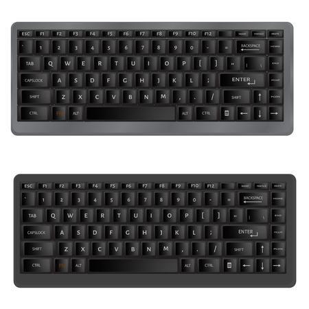 Vector illustration of black Computer Keyboard Illustration