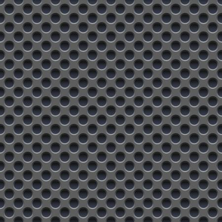 steel sheet: Seamless wallpaper of perforated gray metal plate. design
