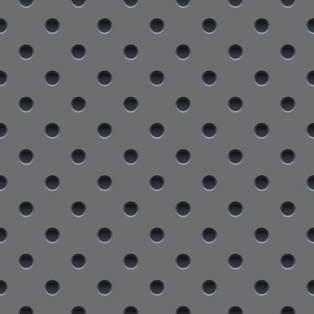 perforated: Seamless wallpaper of perforated gray metal plate.