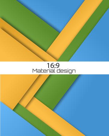 Unusual modern material design. Backgrouds set.  Format 16:9    Vector Illustration.