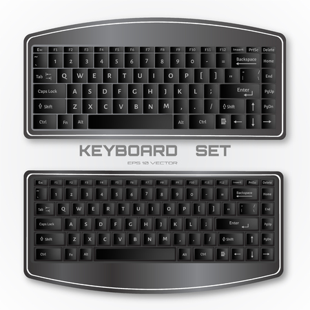 Compact computer keyboard set.