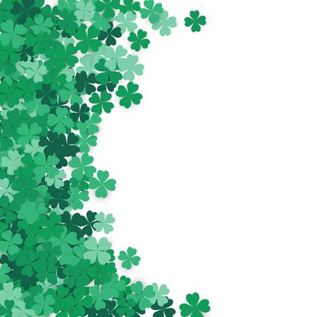 celtic background: Happy Saint Patricks Day Background. Clover, shamrock isolated on white background.Vector illustration