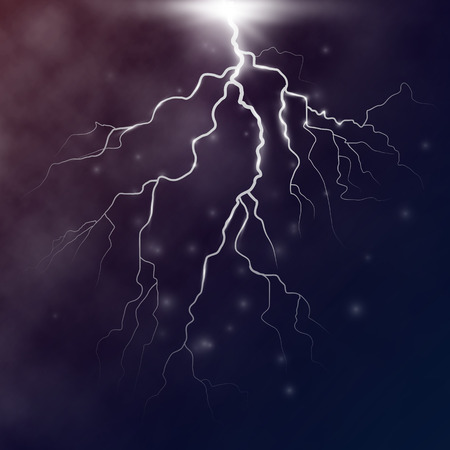 vector lightning flash strike background. vector design Illustration