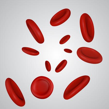 Vector Streaming Blood Cells Illustration