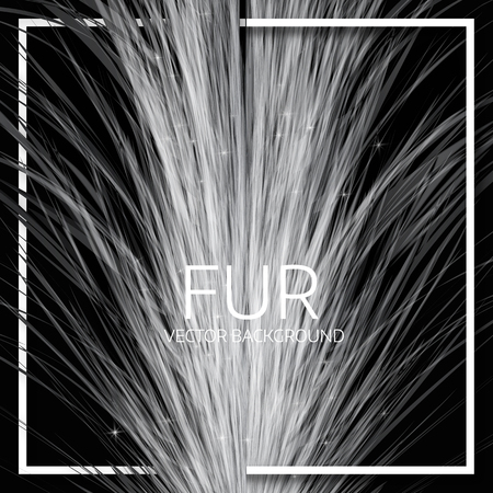 Abstract fur background. Cover design. Vector background Ilustração