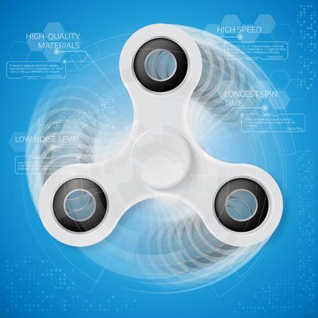 Spinner infographic template.HUD elements spinner. Futuristic user interface. Motion blur effect. Vector illustration. Illustration