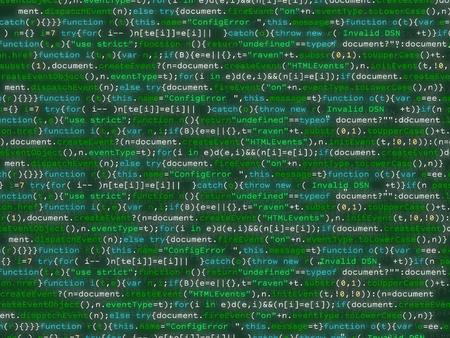 Program code shimmering colorful bakcground. Java script abstract computer script - Random parts of program code. Illustration