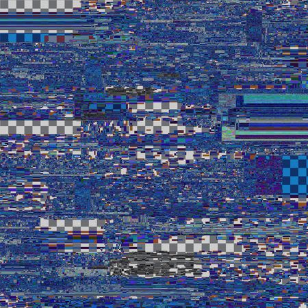 Glitch texture. Computer screen error. Digital pixel noise abstract design. Television signal fail. Data decay. Transparence glitch background. Monitor technical problem.