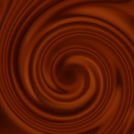 Flow of liquid chocolate full screen as background.Abstract chocolate swirl background.