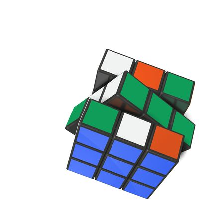Minsk, Belarus, 4 February 2018 . Editorial vector illustration. Rubik s Cube is a 3D combination puzzle invented in 1974 by Hungarian sculptor and professor of architecture Erno Rubik  Иллюстрация