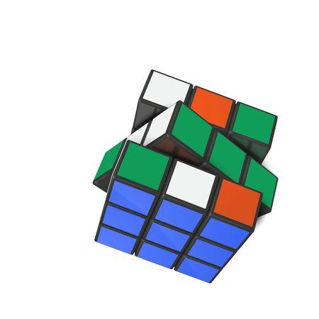 Minsk, Bélarus, 4 février 2018. Illustration vectorielle éditoriale. Rubik s Cube est un puzzle de combinaison 3D inventé en 1974 par le sculpteur hongrois et professeur d'architecture Erno Rubik