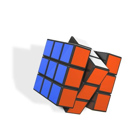 Minsk, Belarus, 4 February 2018 . Editorial vector illustration. Rubik s Cube is a 3D combination puzzle invented in 1974 by Hungarian sculptor and professor of architecture Erno Rubik  Ilustração