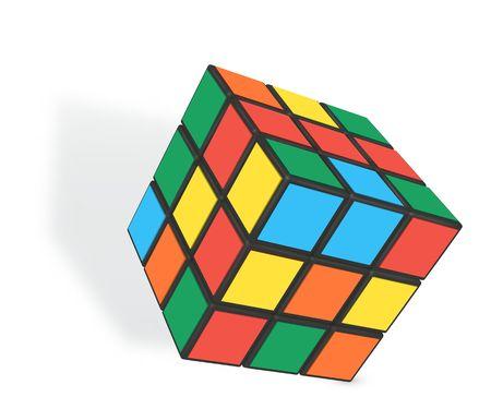Minsk, Bielorrusia, 4 de febrero de 2018. Editorial ilustración vectorial. Rubik s Cube es un rompecabezas de combinación en 3D inventado en 1974 por el escultor y profesor de arquitectura húngaro Erno Rubik