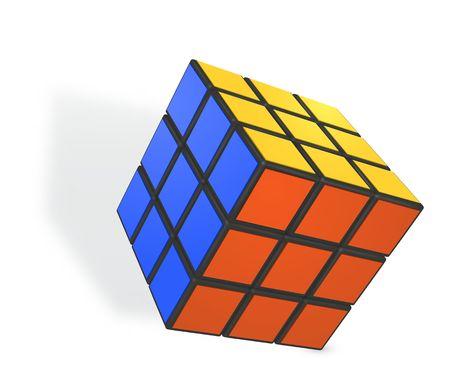 Minsk, Weißrussland, 4. Februar 2018. Redaktionelle Vektor-Illustration. Rubiks Würfel ist ein 3D-Kombinationspuzzle, das 1974 vom ungarischen Bildhauer und Architekturprofessor Erno Rubik erfunden wurde Vektorgrafik