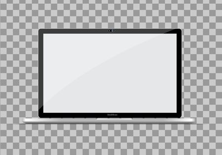 Modern ultra thin laptop. vector illustration.  イラスト・ベクター素材