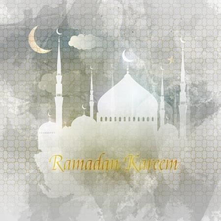 Ramadan kareem. Arabic Greeting card islamic vector design.