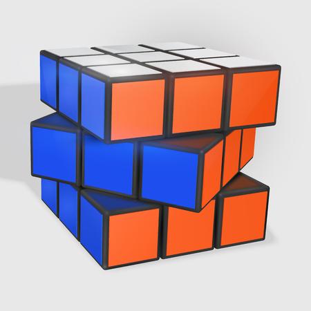 Rubik s Cube vector illustration