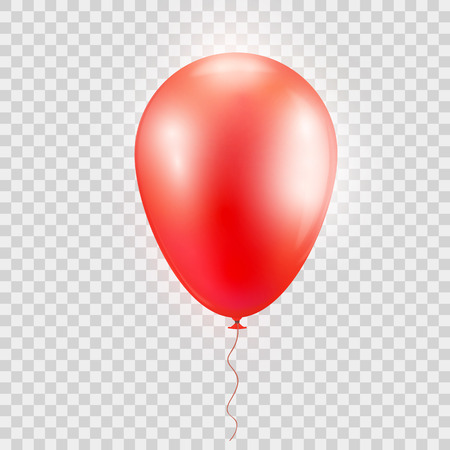 Realistic red baloon on isolated on abstract background.
