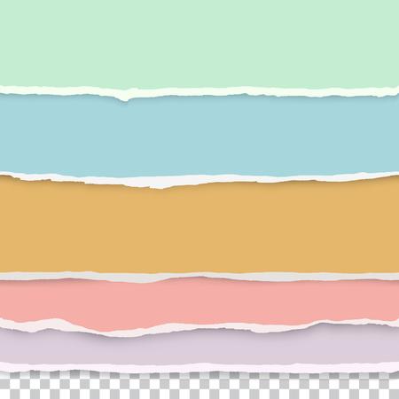 elementi di design - carta strappata multicolore