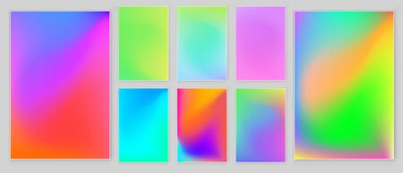 Blurred abstract  color background set. Trendy modern design Vector templates for placards, banners, flyers, presentations and report