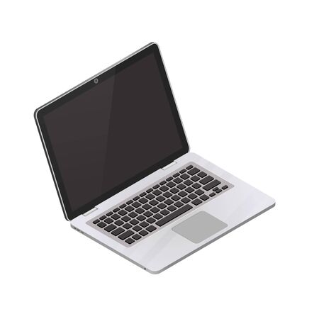 Vector isometric laptop isolated on a white background. Detailed isometric icon