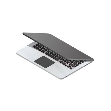 Vector isometric laptop isolated on a white background.