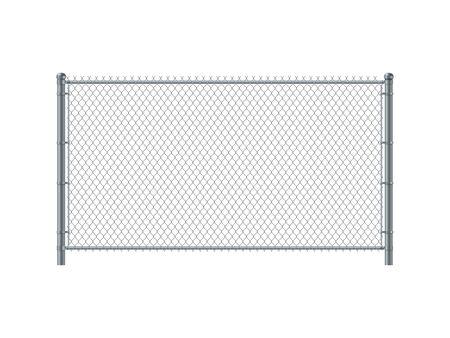 Panel de valla de alambre. Valla de alambre de metal.