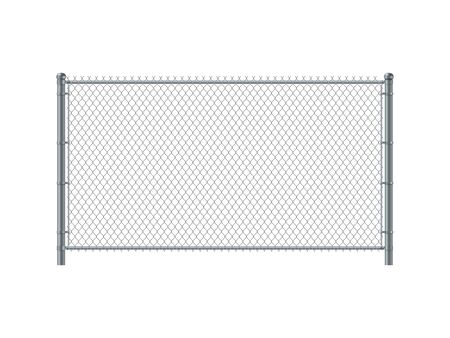 Panel ogrodzeniowy z ogniwa łańcucha. Ogrodzenie z drutu metalowego.
