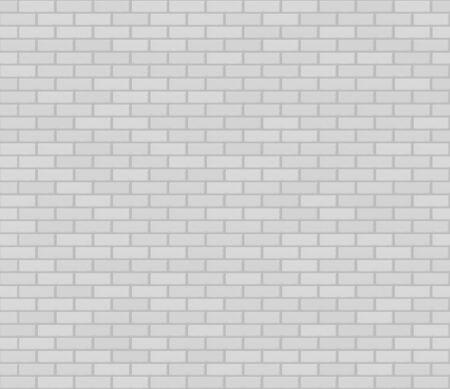 White realistic vector seamless brickwork wall texture. Illustration