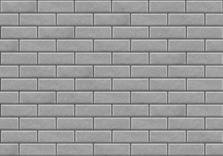White realistic vector seamless brickwork wall texture. Stock Illustratie