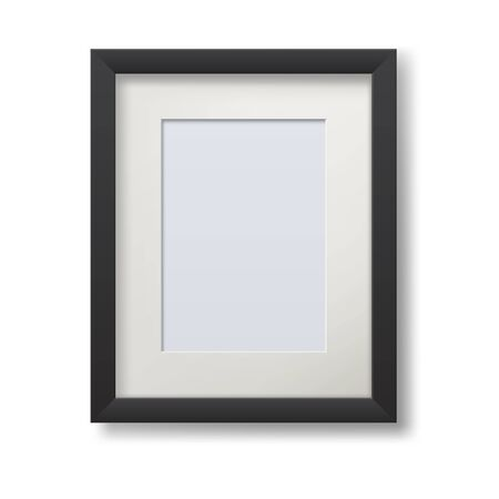 Realistic modern frame for paintings isolated on white
