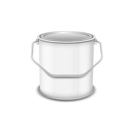 Realistic vector 3D mockup paint can isolated on white background. Stock Illustratie