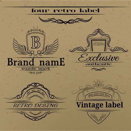 Set of vintage labels. EPS 8