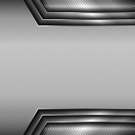 Abstract metallic background with glossy metallic elements. EPS 10. Illustration