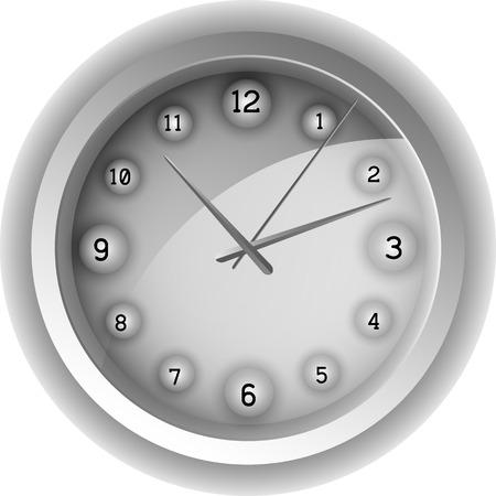chronograph: Analog clock. Vector illustration. Vector illustration EPS 10.