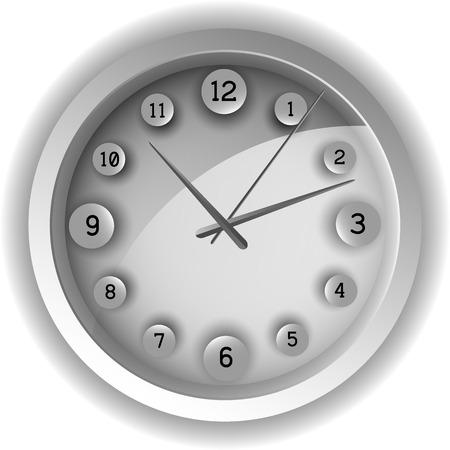 chronograph: Analog clock. Vector illustration. EPS 10 Illustration