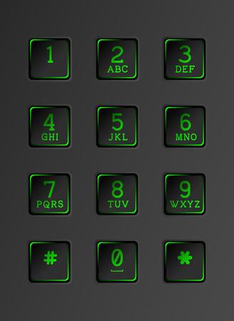 key pad: Digital dial plate of security lock.