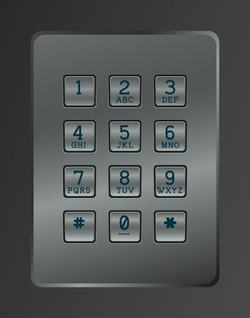 entry numbers: Digital dial plate of security lock.
